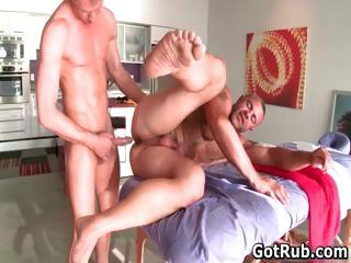 Hot guy obtain his amazing body massaged part5