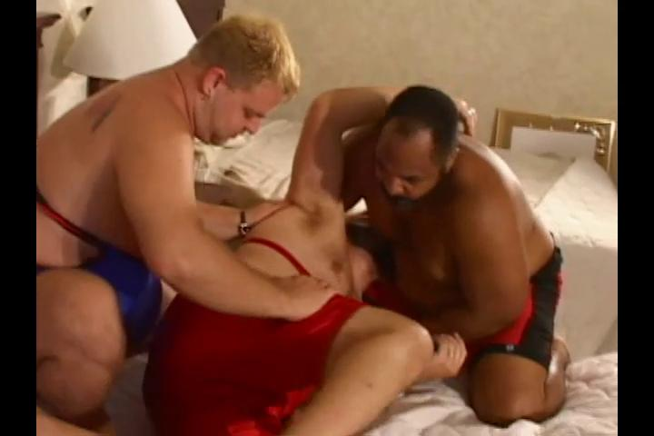 Three horny big wrestlers want some hot dirty sex