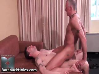 Oversexed gay bareback fucking together with cock part1