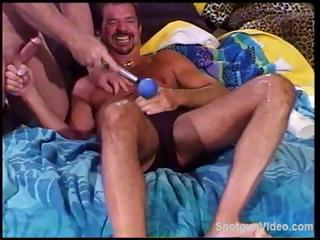 Intense pain and respect from some gays beating up everlastingly other's dicks