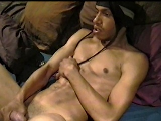 This horny homeboy is with respect to for a nigh of self satisfaction. Watch him...