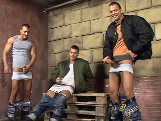 Skinhead Threesome Solo...