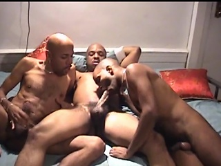 You wouldn't believe what these three hot ebony studs are into. They...
