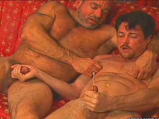 Andrew Addams asshole gets shivered by Muscle Mikes dirty tongue...