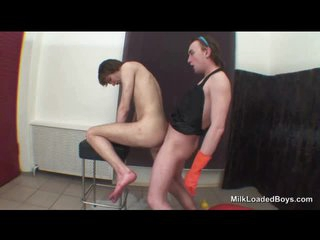 Hairy ass twink fucked in the matter of his tight butt