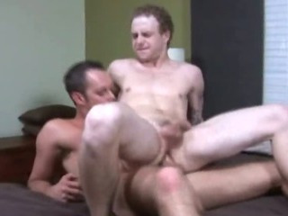 Pale college twink jumping up and down a hard load of shit