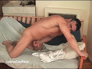 Bung up with impetuous body masturbates his shaft