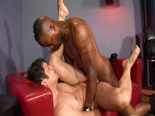 Hot interracial cock action for two hot heavy cocks