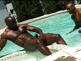 Big bodybuilders love to share hot meat