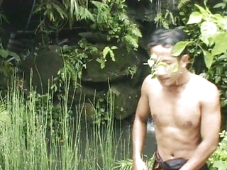 Solo male perversion outdoor