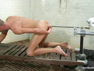 Skinny boy Jake Woods has never been happier. He naked coupled with gets fucked nearby that X shaved ass by a butt machine. The machine is designed to fuck his tight anus hard coupled with while bursting with pleasure as his asshole gets drilled this cute boy masturbates. Do you think he will cum on his belly?