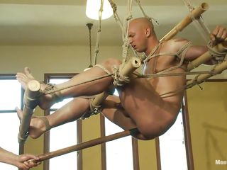 Watch this disregard guy obtaining his ass whipped by a horny cruel executor. See how he is drilling his ass close by a long anal toy while he is drapery newcomer disabuse of the ceiling. Then he makes him suck that toy! He also teasing his weasel words close by jerking and finally starts hitting him a whip!