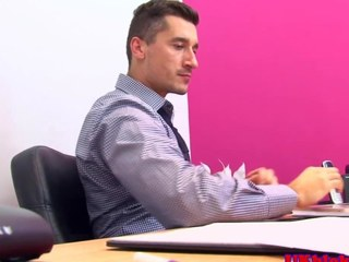 Muscular british gay office fuck action