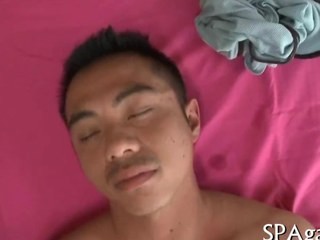 doggy style fucking the ass of the Asian dude
